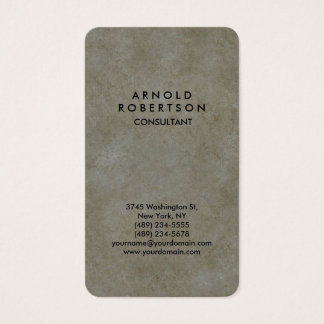 Cartão De Visitas Original elegante cinzento da parede de pedra de