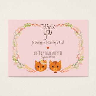 Cartão De Visitas Os gatos lunáticos da floresta coram Tag/cartões