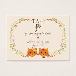 Cartão De Visitas Os gatos lunáticos da floresta desnatam