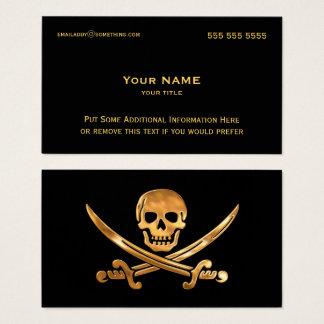 Cartão De Visitas Ouro do pirata