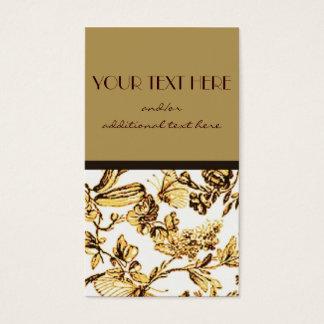 Cartão De Visitas Ouro floral