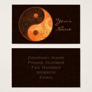 Cartão De Visitas Ouro modelado ID325 de Yin Yang