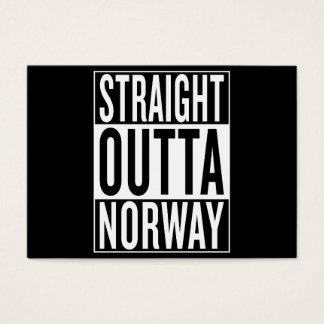 Cartão De Visitas outta reto Noruega