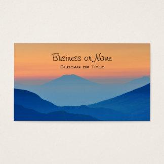Cartão De Visitas Paisagem abstrata das montanhas do por do sol