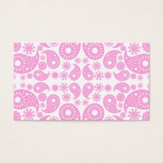 Cartão De Visitas Paisley. cor-de-rosa