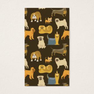Cartão De Visitas Papel de parede variado dos cães