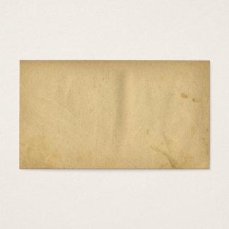 Cartão De Visitas Papel vazio manchado antiguidade do amarelo da