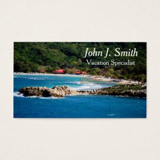 Cartão De Visitas Paraíso tranquilo Labadee Haiti da ilha