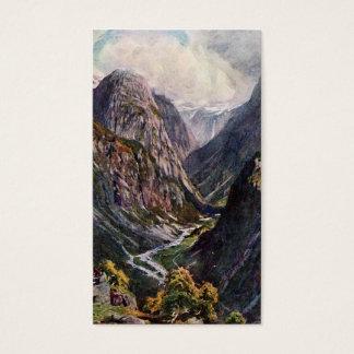 Cartão De Visitas Passagem de montanha norueguesa