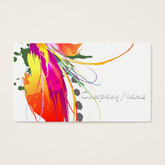 Cartão De Visitas Pássaro abstrato de Splatters da pintura do