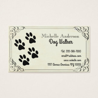 Cartão De Visitas Passeio e veterinário do cão