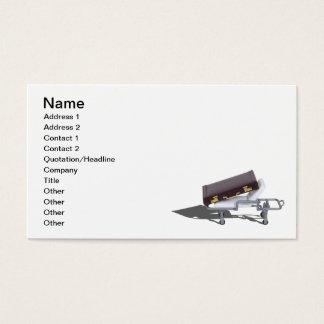 Cartão De Visitas Pasta na marquesa médica