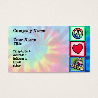 Cartão De Visitas Paz, amor, bilhar