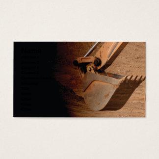 Cartão De Visitas peça do backhoe do equipamento de construção