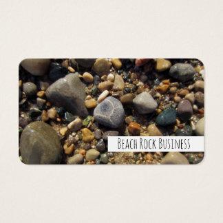 Cartão De Visitas Pedra de Petoskey, rochas coloridas da praia do