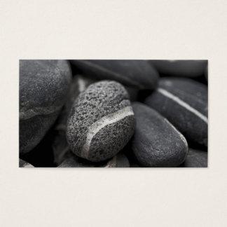 Cartão De Visitas Pedra preto e branco