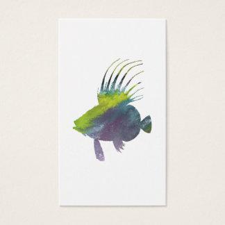 Cartão De Visitas Peixes do Dory - arte colorida dos peixes