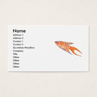Cartão De Visitas Peixes do paraíso, Watercolor.