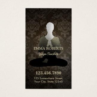 Cartão De Visitas Perfurador da lealdade da ioga & da mediação do