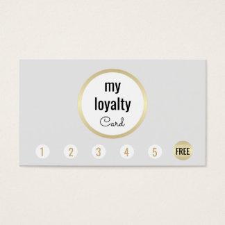 Cartão De Visitas Perfurador simples da lealdade 6 do cliente do