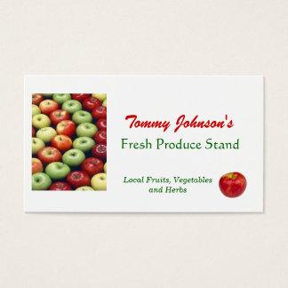 Cartão De Visitas Personalize o mercado de fruta vegetal dos