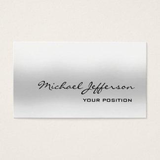 Cartão De Visitas Pessoal na moda cinzento original chique