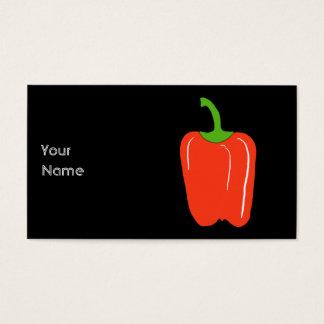 Cartão De Visitas Pimenta de Bell vermelha. Inteiro