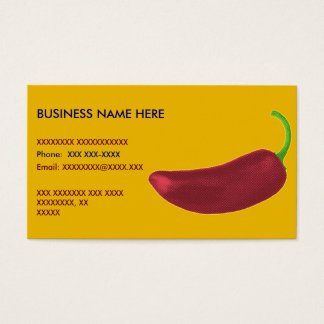 Cartão De Visitas Pimenta de Jalapeño