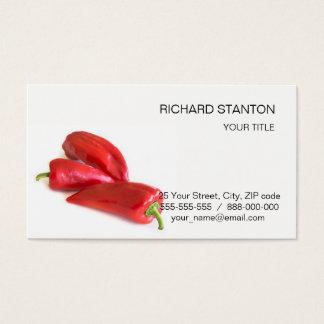 Cartão De Visitas Pimenta vermelha