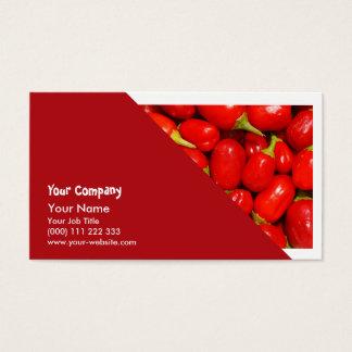 Cartão De Visitas Pimentas vermelhas