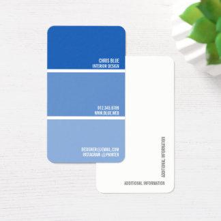 Cartão De Visitas Pinte o decorador azul do pintor das