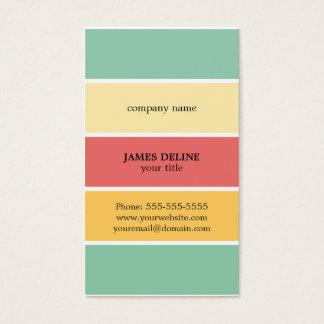 Cartão De Visitas Pintor profissional listrado colorido legal
