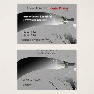 Cartão De Visitas Pintores de casa brancos pretos da pintura da