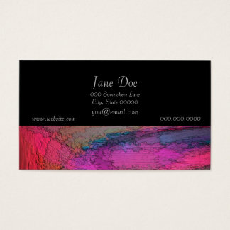 Cartão De Visitas Pintura abstrata colorida
