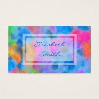 Cartão De Visitas Pintura colorida abstrata