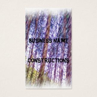 Cartão De Visitas Pintura da foto da floresta