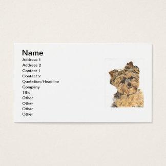 Cartão De Visitas Pintura do filhote de cachorro do yorkshire