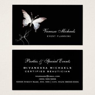 Cartão De Visitas Planejador de evento elegante da borboleta etéreo