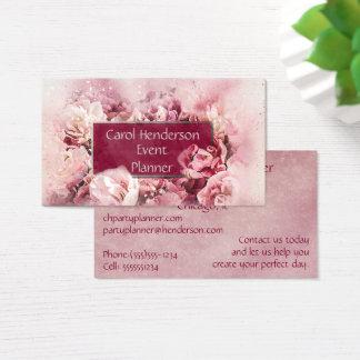 Cartão De Visitas Planejador marrom e cor-de-rosa do partido do
