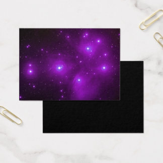 Cartão De Visitas Pleiades na arte roxa do espaço