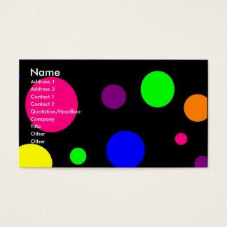 Cartão De Visitas Pontos coloridos
