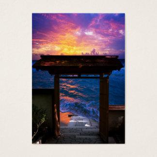 Cartão De Visitas Por do sol na baía do paraíso