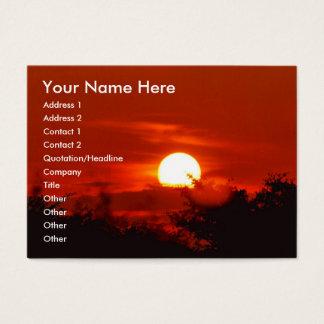 Cartão De Visitas Por do sol no paraíso