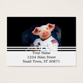 Cartão De Visitas Porco do astronauta - astronauta do espaço