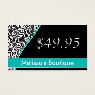 Cartão De Visitas Preços elegantes do monograma