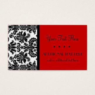 Cartão De Visitas Preto, branco & escarlate
