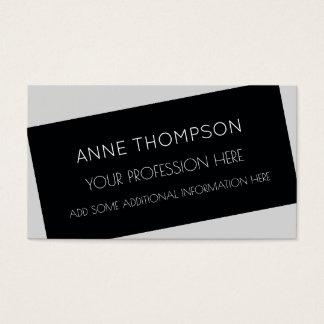 Cartão De Visitas preto & branco, legal & moderno