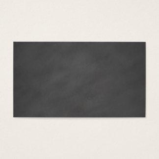 Cartão De Visitas Preto cinzento do conselho de giz do fundo
