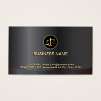 Cartão De Visitas Preto do escritório de advogados & advogado do
