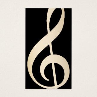 Cartão De Visitas Preto do professor vocal da música & Musical